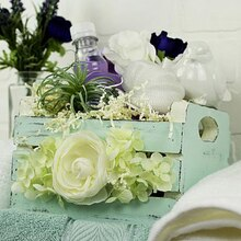 Floral Embellished Easter Crate, medium